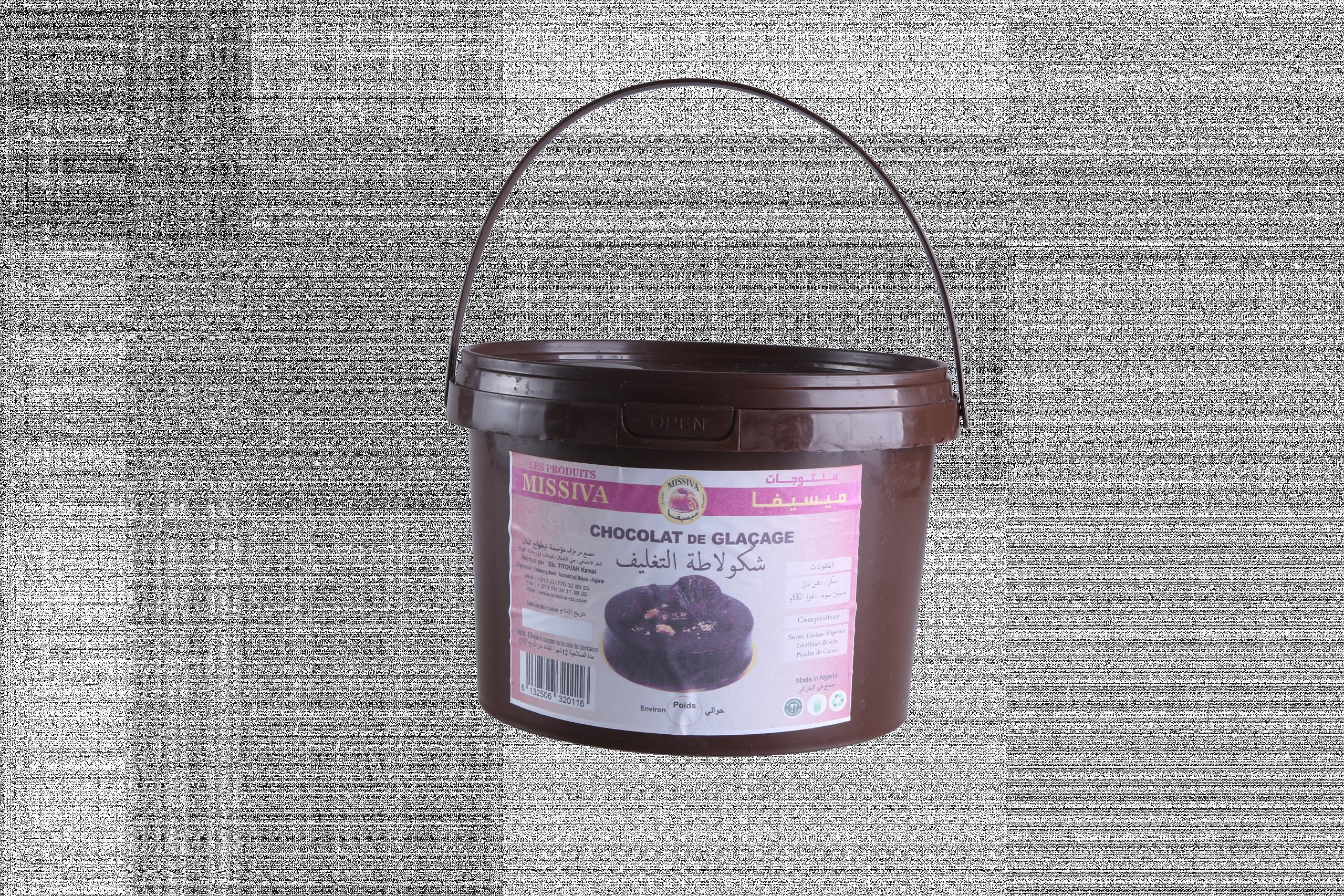 Chocolat de glaçage NOIR/ MARRON / BLANC