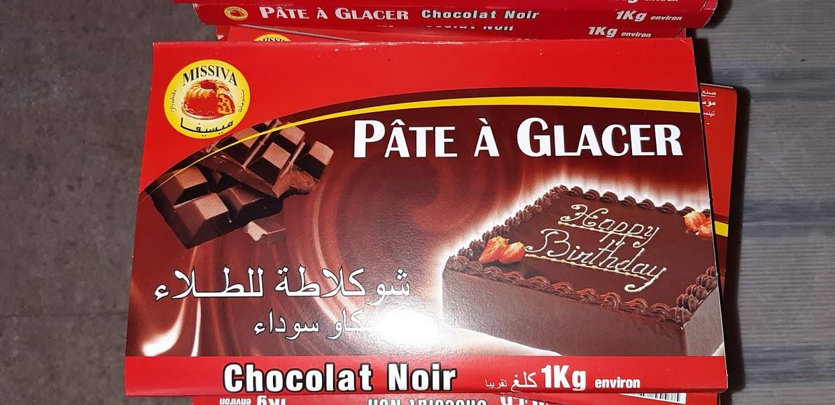 chocolat de glaçage noir / marron / blanc